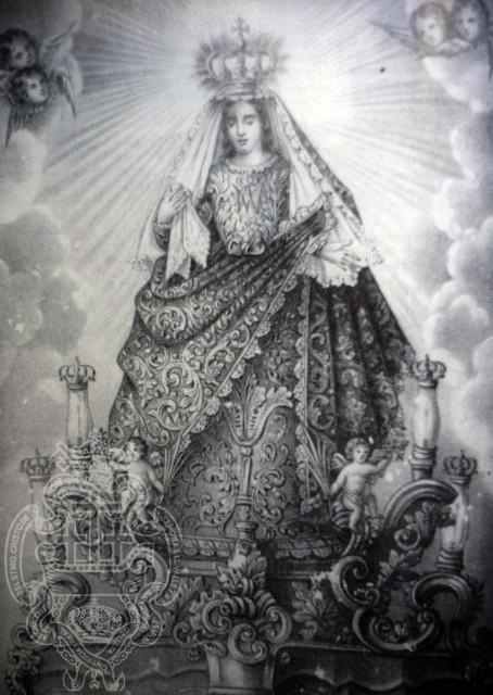 1Grabado de la Virgen del Valle del sglo XIX