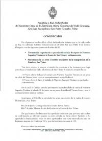 Comunicado Cabildo 30 de abril