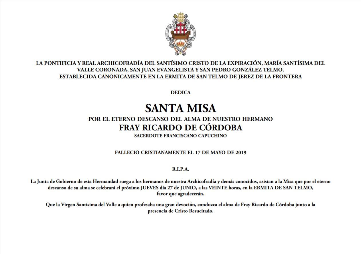 Fray Ricardo Misa